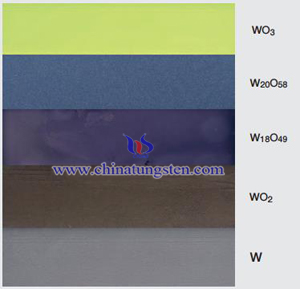 tungsten oxide color photo